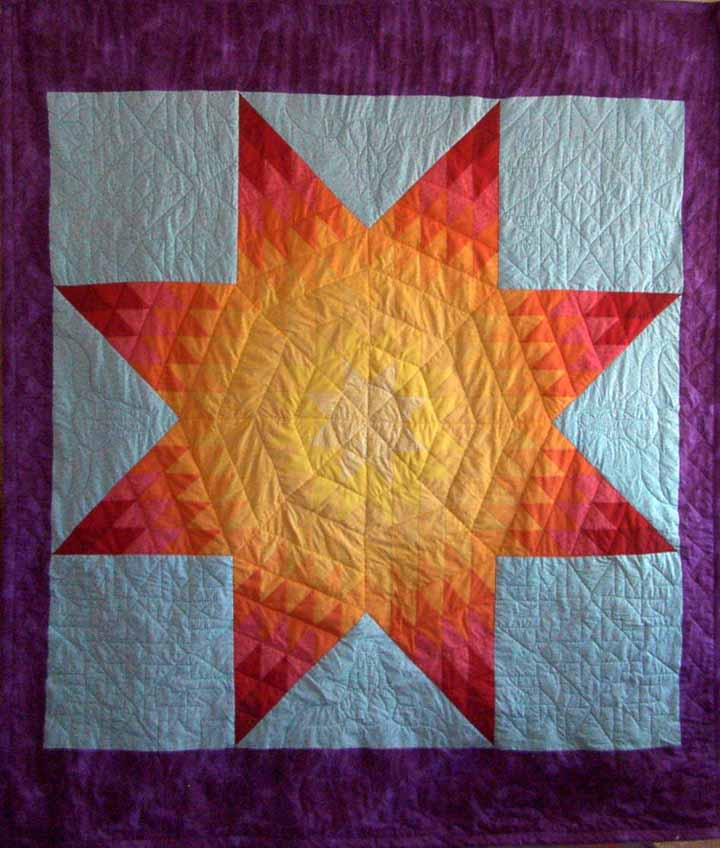 Full or Double Star Quilt